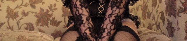 黒の下着写真